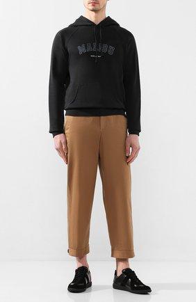 Мужской хлопковое худи SAINT LAURENT темно-серого цвета, арт. 603281/YBPY2 | Фото 2