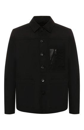 Мужская куртка NEIL BARRETT черного цвета, арт. PBSP480V/N017 | Фото 1