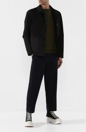 Мужская куртка NEIL BARRETT черного цвета, арт. PBSP480V/N017 | Фото 2