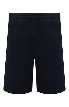 Мужские хлопковые шорты NEIL BARRETT темно-синего цвета, арт. PBPA768/N025 | Фото 1