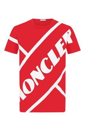 Мужская хлопковая футболка MONCLER красного цвета, арт. F1-091-8C706-10-8390T | Фото 1