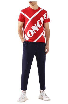 Мужская хлопковая футболка MONCLER красного цвета, арт. F1-091-8C706-10-8390T | Фото 2