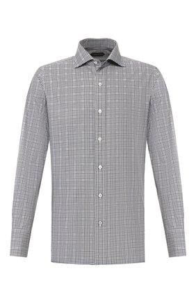 Мужская хлопковая сорочка TOM FORD черно-белого цвета, арт. 7FT101/94S1AX | Фото 1