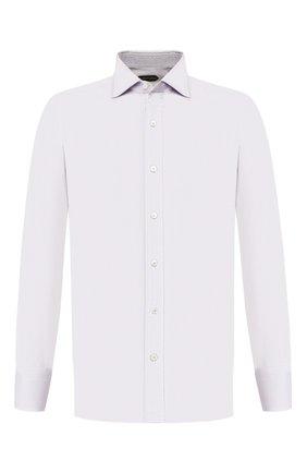 Мужская хлопковая сорочка TOM FORD светло-серого цвета, арт. 7FT191/94S1AX | Фото 1