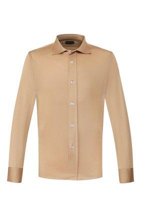 Мужская рубашка TOM FORD светло-коричневого цвета, арт. BU248/TFJ941 | Фото 1