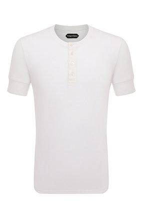 Мужская хлопковая футболка TOM FORD белого цвета, арт. BU402/TFJ957   Фото 1