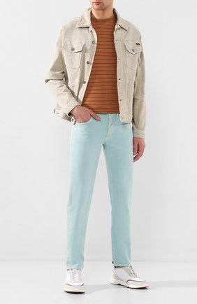 Мужские джинсы TOM FORD светло-голубого цвета, арт. BUJ35/TFD002 | Фото 2