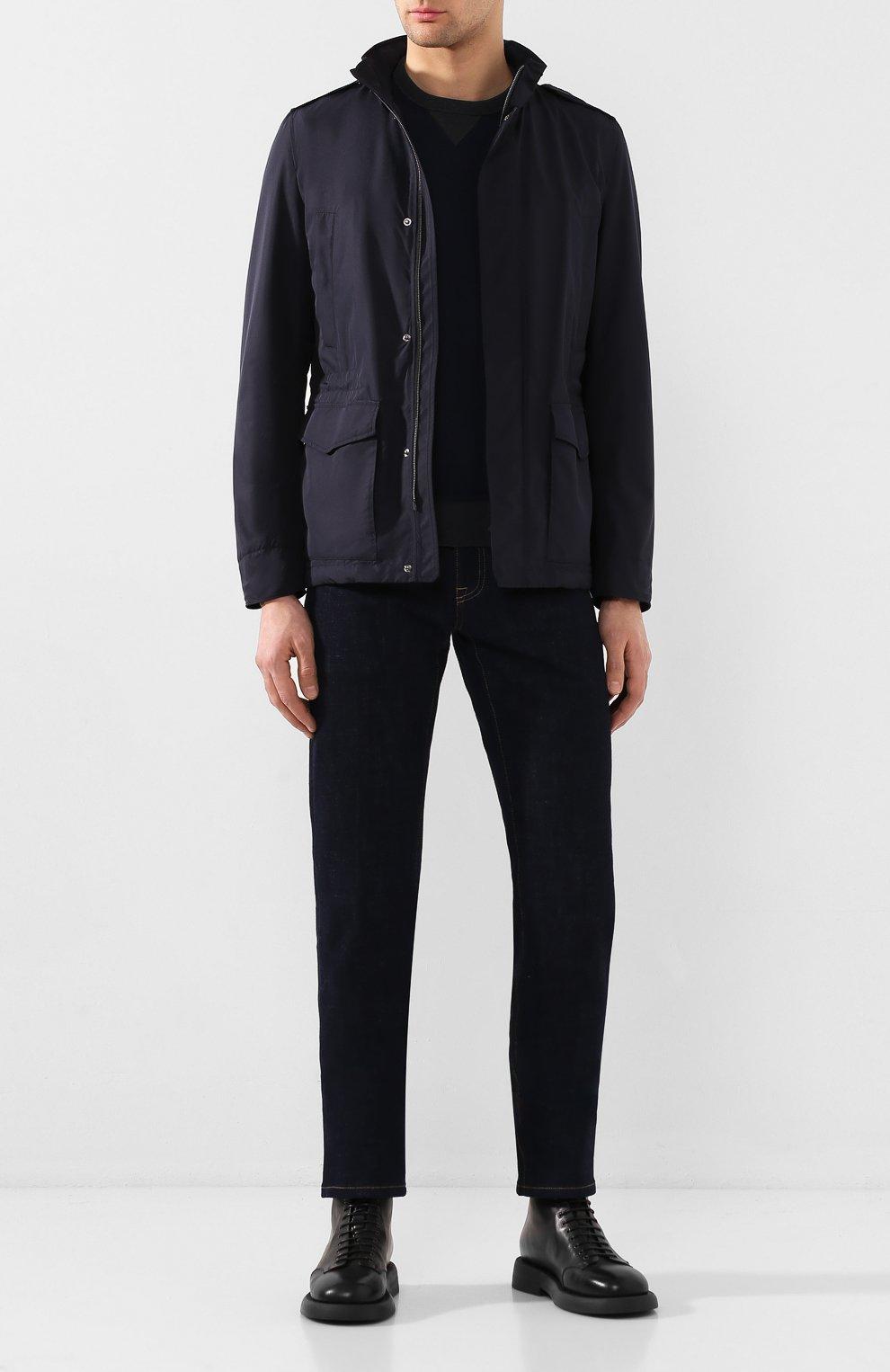 Мужская куртка HERNO темно-синего цвета, арт. FI0061U/12010   Фото 2
