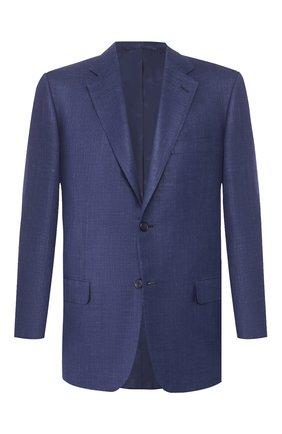 Мужской пиджак из смеси шерсти и шелка BRIONI темно-синего цвета, арт. RGH00Q/P9A54/PARLAMENT0 | Фото 1