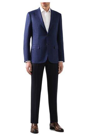 Мужской пиджак из смеси шерсти и шелка BRIONI темно-синего цвета, арт. RGH00Q/P9A54/PARLAMENT0 | Фото 2
