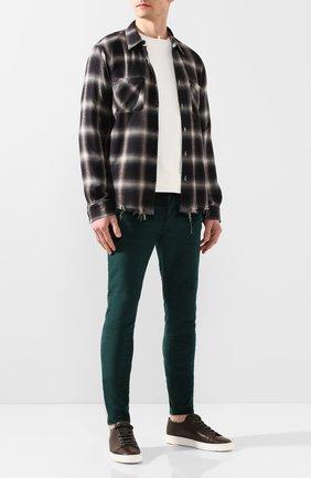 Мужской брюки AMIRI зеленого цвета, арт. Y0M09459VE | Фото 2