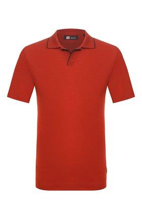Мужское шерстяное поло Z ZEGNA красного цвета, арт. VU394/ZZT612 | Фото 1