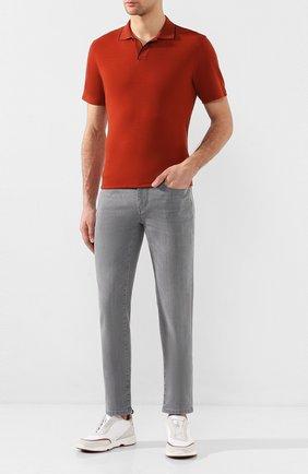 Мужские джинсы Z ZEGNA светло-серого цвета, арт. VU716/ZZ530 | Фото 2