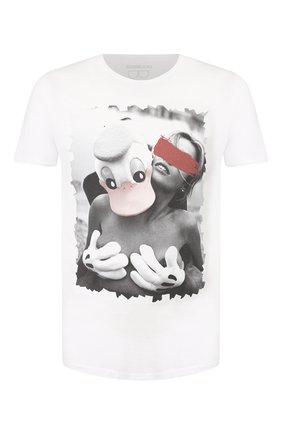 Мужская хлопковая футболка BISIBIGLIO белого цвета, арт. PAPER T0UCHW0M   Фото 1