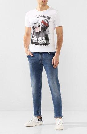 Мужская хлопковая футболка BISIBIGLIO белого цвета, арт. PAPER T0UCHW0M   Фото 2