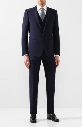 Мужской шерстяной костюм-тройка DOLCE & GABBANA синего цвета, арт. GK3XMT/FU3PU | Фото 1