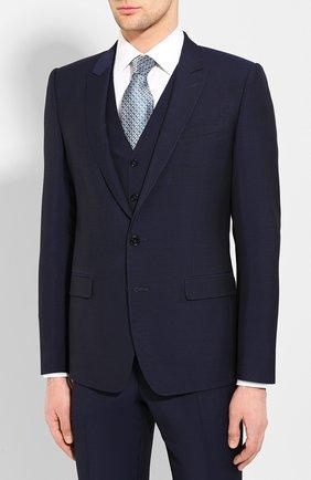 Мужской шерстяной костюм-тройка DOLCE & GABBANA синего цвета, арт. GK3XMT/FU3PU | Фото 2