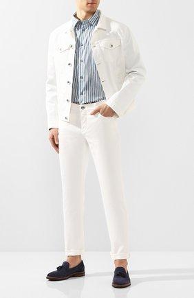 Рубашка из смеси хлопка и шелка   Фото №2