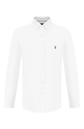 Мужская хлопковая рубашка POLO RALPH LAUREN белого цвета, арт. 710728724 | Фото 1