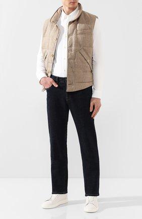 Мужская хлопковая рубашка POLO RALPH LAUREN белого цвета, арт. 710728724 | Фото 2