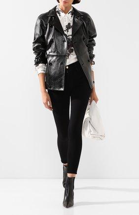 Женская кожаная куртка DOLCE & GABBANA черного цвета, арт. F9G97L/HULF5 | Фото 2