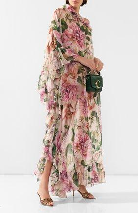 Женское шелковое платье DOLCE & GABBANA розового цвета, арт. F6F1LT/IS1AF | Фото 2