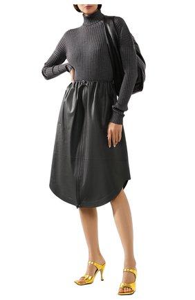 Женская шерстяная водолазка BOTTEGA VENETA серого цвета, арт. 601720/VKJS0 | Фото 2