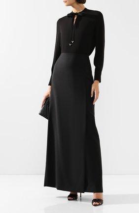 Женская шерстяная юбка VALENTINO черного цвета, арт. TB3RA5G154S | Фото 2
