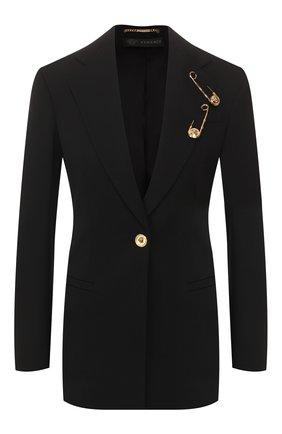 Женский шерстяной жакет VERSACE черного цвета, арт. A85700/A232969 | Фото 1
