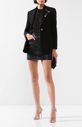 Женский шерстяной жакет VERSACE черного цвета, арт. A85700/A232969 | Фото 2