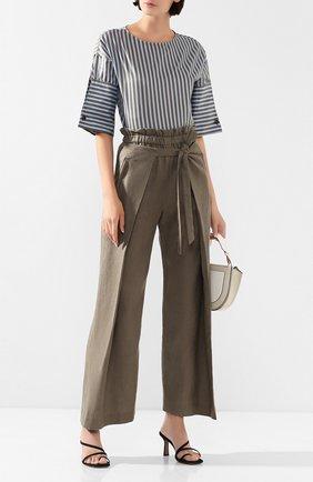Женские льняные брюки CULT GAIA зеленого цвета, арт. 52017L14 SSP   Фото 2 (Материал внешний: Лен; Статус проверки: Проверена категория; Женское Кросс-КТ: Брюки-одежда; Длина (брюки, джинсы): Стандартные; Силуэт Ж (брюки и джинсы): Широкие)