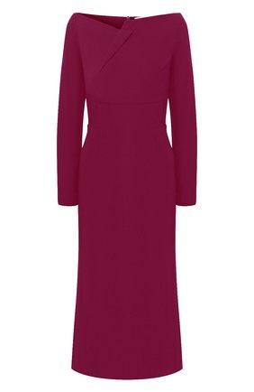Женское платье-миди ROLAND MOURET фиолетового цвета, арт. PS20/S0789/F2241 | Фото 1