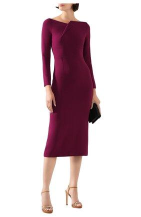 Женское платье-миди ROLAND MOURET фиолетового цвета, арт. PS20/S0789/F2241 | Фото 2