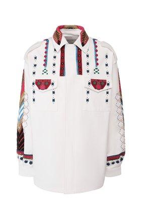 Женская джинсовая куртка VALENTINO белого цвета, арт. TB3CJ1B52C0 | Фото 1