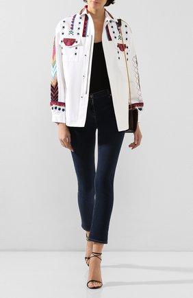 Женская джинсовая куртка VALENTINO белого цвета, арт. TB3CJ1B52C0 | Фото 2