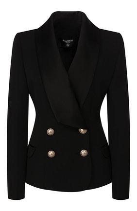 Женский шерстяной жакет BALMAIN черного цвета, арт. TF17515/167L | Фото 1