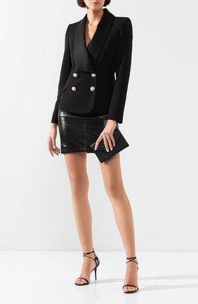 Женский шерстяной жакет BALMAIN черного цвета, арт. TF17515/167L | Фото 2