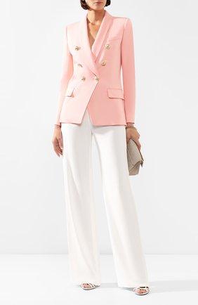 Женский шерстяной жакет BALMAIN розового цвета, арт. TF17471/167L | Фото 2