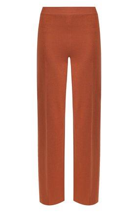 Женские брюки из смеси шелка и хлопка LORO PIANA темно-бежевого цвета, арт. FAI9456 | Фото 1