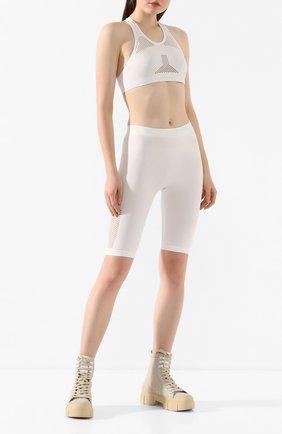 Женские шорты BEN TAVERNITI UNRAVEL PROJECT белого цвета, арт. UWHM002R20KNI0010404   Фото 2