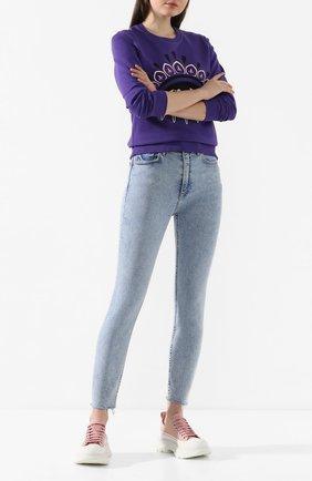 Женские джинсы GRLFRND голубого цвета, арт. GF42839251182 | Фото 2