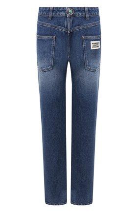 Женские джинсы BURBERRY синего цвета, арт. 8025254 | Фото 1