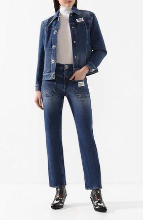 Женские джинсы BURBERRY синего цвета, арт. 8025254 | Фото 2