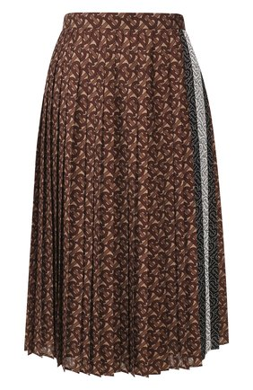 Женская юбка BURBERRY коричневого цвета, арт. 8025237 | Фото 1