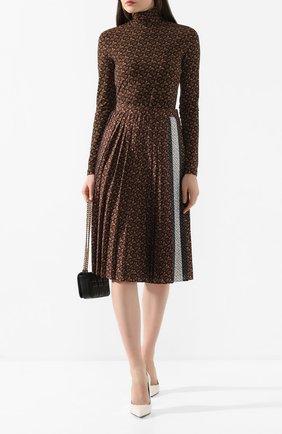 Женская юбка BURBERRY коричневого цвета, арт. 8025237 | Фото 2