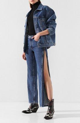 Женские джинсы VETEMENTS голубого цвета, арт. SS20PA332 2801/W/BLUE | Фото 2