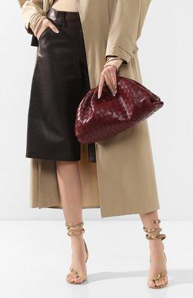 Женский клатч pouch BOTTEGA VENETA бордового цвета, арт. 576175/VCPP0   Фото 2