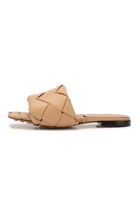Женские кожаные шлепанцы lido BOTTEGA VENETA бежевого цвета, арт. 608853/VBSS0 | Фото 3