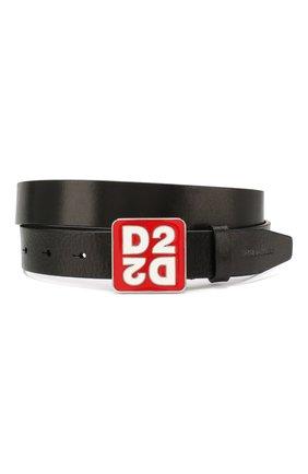 Женский кожаный ремень DSQUARED2 черного цвета, арт. BEM0241 12900001 | Фото 1