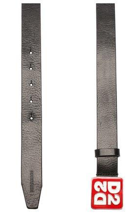 Женский кожаный ремень DSQUARED2 черного цвета, арт. BEM0241 12900001 | Фото 2
